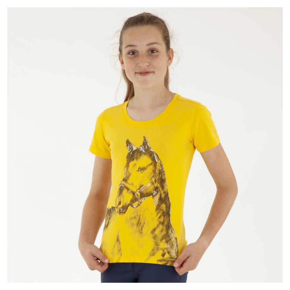 Camiseta de caballo para niña modelo ATK191301 Color Amarillo de Anky