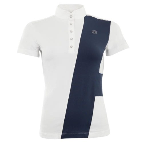 Camiseta de manga corta modelo Grand Allure ATP18202 C-Wear Color Blanco / Azul marino de Anky