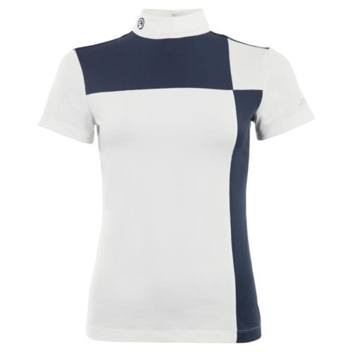 Camiseta de manga corta modelo Grand Prix ATP18203 C-Wear Color Blanco / Azul marino de Anky