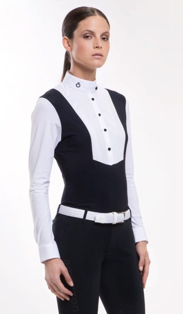 Camisa de competición manga larga Color Blanco de Cavalleria Toscana