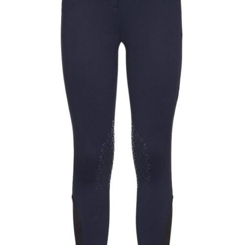 Pantalones de tejido de piqué para niña color azul marino de Cavalleria Toscana