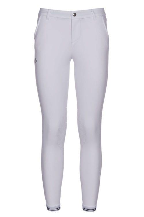 Pantalones con grip en las rodillas junior de color blanco de la colección Revolution de Cavalleria Toscana