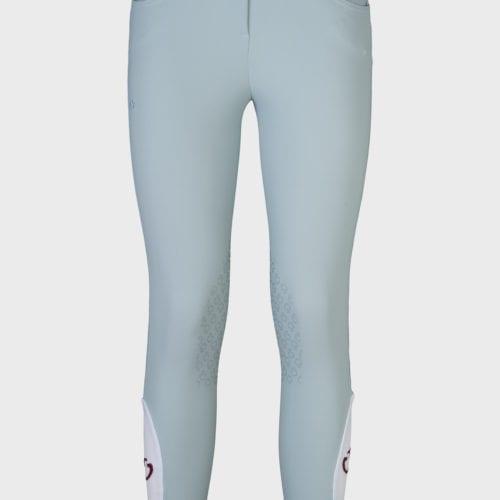 Pantalones knee grip de montar azules para niña modelo Color Grip de Cavalleria Toscana