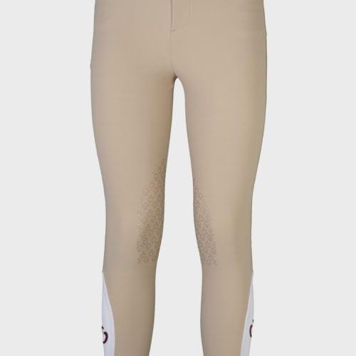 Pantalones knee grip de montar beige para niño modelo Riding de Cavalleria Toscana