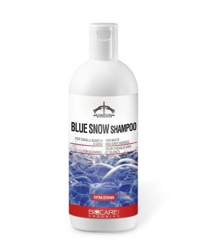 Champú extra fuerte para caballos tordos modelo Blue Snow de Veredus