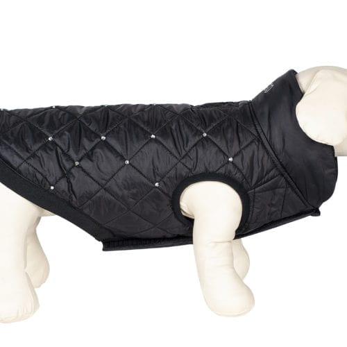 Abrigo para perro con strass color negro modelo Grinch de Equiline