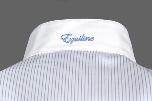 Camisa manga corta de competición para mujer modelo Charlotte Color Azul de Equiline
