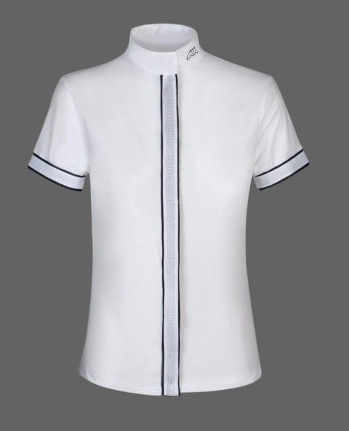 Camisa de competición de manga corta azul para mujer modelo Citrine de Equiline