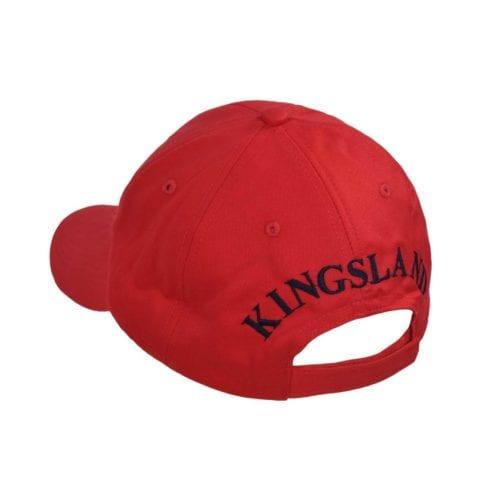 Gorra unisex roja con logo azul marino modelo KLargus de Kingsland