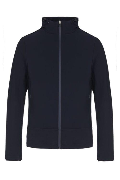 Chaqueta azul marina para hombre modelo Embossed Jersey de Cavalleria Toscana