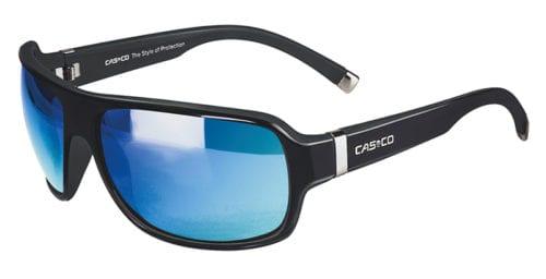Gafas de sol deportivas negras mate con los cristales azules unisex modelo SX-61 Bicolor de Casco