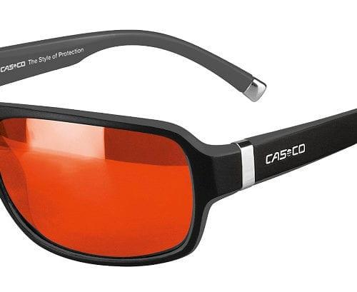 Gafas de sol deportivas negras con los cristales rojos unisex modelo SX-61 Bicolor de Casco