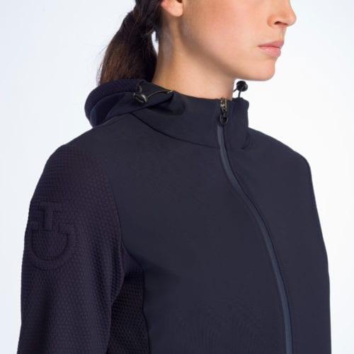 Chaqueta azul marina para mujer modelo Embossed Jersey de Cavalleria Toscana