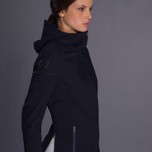 Chaqueta cortavientos azul marina para mujer modelo R-Lab de Cavalleria Toscana