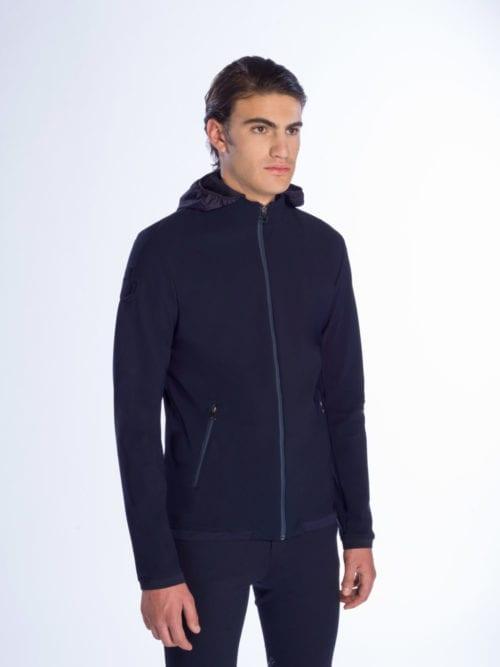 Chaqueta azul marina para hombre modelo Softshell Warm-Up de Cavalleria Toscana