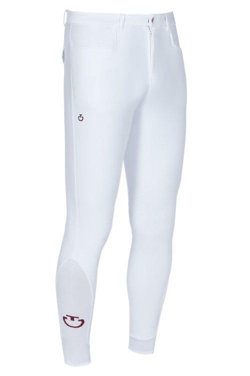 Pantalones de montar blancos para hombre modelo New Grip Systema de Cavalleria Toscana