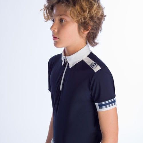 Polo de competición para niño azul marino modelo Jersey Compet de Cavalleria Toscana