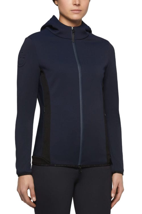 Chaqueta softshell con capucha azul marino para mujer de Cavalleria Toscana