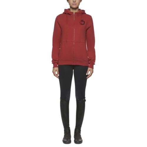 Sudadera rojo con capucha para mujer de Cavalleria Toscana