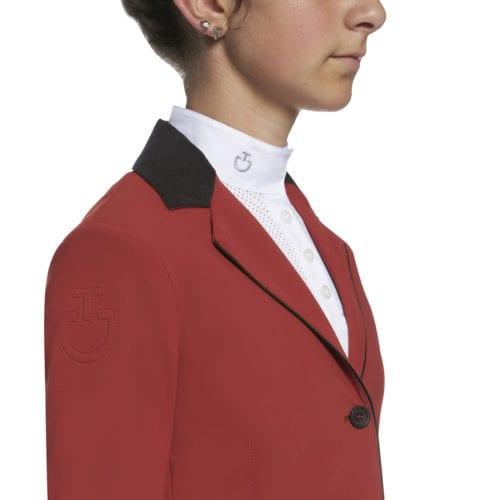 Chaqueta de concurso roja modelo GP para niña de Cavalleria Toscana