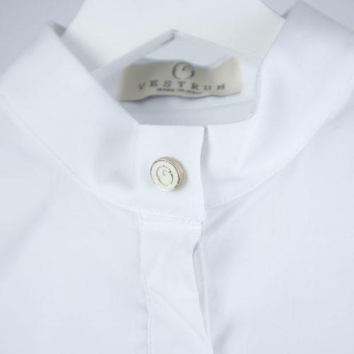 Polo blanco de manga corta modelo Málaga de Vestrum.