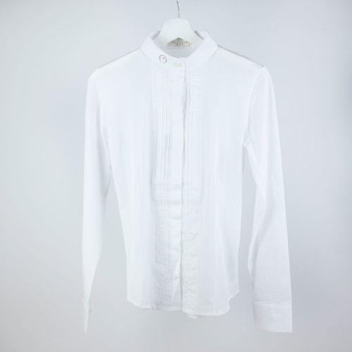 Camisa de competición blanca de manga larga modelo Nancy de Vestrum.