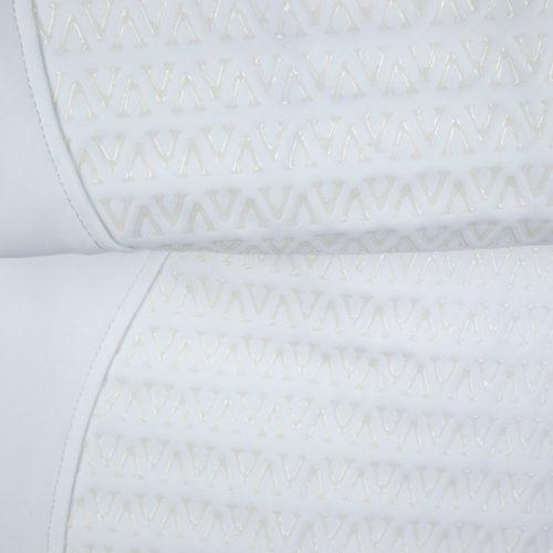Pantalones de competición blancos (grip completo) modelo Wismar de Vestrum.