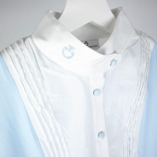 Polo/camisa azul celeste de manga corta de Cavalleria Toscana
