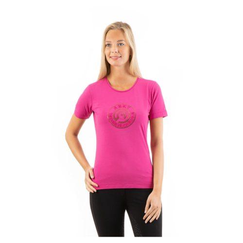 ANKY Logo Shirt ATC211302 short sleeve - Very Berry
